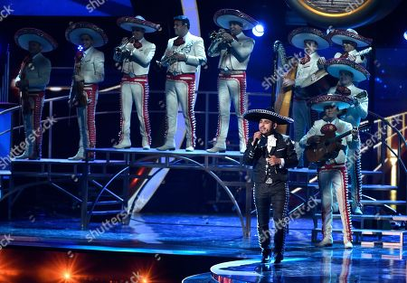 """Espinoza Paz and the Mariachi Sol de Mexico, perform """"Perdi la pose"""" at the 16th annual Latin Grammy Awards at the MGM Grand Garden Arena in Las Vegas. 2016 was a tough year for Mexican Regional music. Vicente Fernandez said good bye to concerts, Juan Gabriel died and the Latin Grammy did not award the ranchera/mariachi category due to lack of productions. Professionals such as Pepe Aguilar and Paz have made a call to save the genre"""