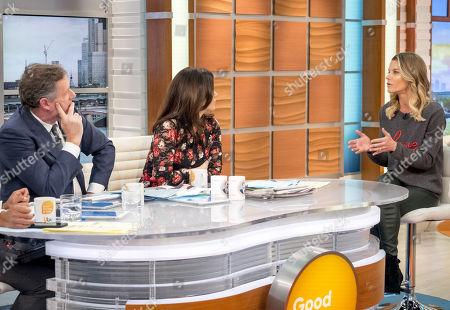 Piers Morgan, Susanna Reid and Julie Montagu