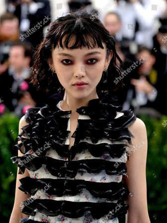 Rila Fukushima attends The Metropolitan Museum of Art's Costume Institute benefit gala celebrating the opening of the Rei Kawakubo/Comme des Garçons: Art of the In-Between exhibition, in New York
