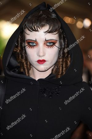 Grace Hartzel attends The Metropolitan Museum of Art's Costume Institute benefit gala celebrating the opening of the Rei Kawakubo/Comme des Garçons: Art of the In-Between exhibition, in New York