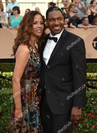 Sondra Spriggs, left, and Mykelti Williamson arrive at the 23rd annual Screen Actors Guild Awards at the Shrine Auditorium & Expo Hall, in Los Angeles