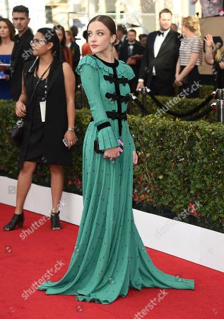 Samantha Isler arrives at the 23rd annual Screen Actors Guild Awards at the Shrine Auditorium & Expo Hall, in Los Angeles