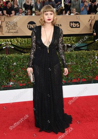 Emily Althaus arrives at the 23rd annual Screen Actors Guild Awards at the Shrine Auditorium & Expo Hall, in Los Angeles