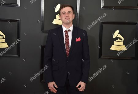 Sean Sullivan arrives at the 59th annual Grammy Awards at the Staples Center, in Los Angeles