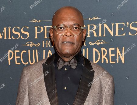 """Actor Samuel L. Jackson attends """"Miss Peregrine's Home for Peculiar Children"""" red carpet event in New York. In an appearance, on the radio station Hot 97, Jackson criticized the casting of black British actors in American films like the horror hit â?oeGet Outâ?? and the Martin Luther King Jr. drama â?oeSelma.â"""