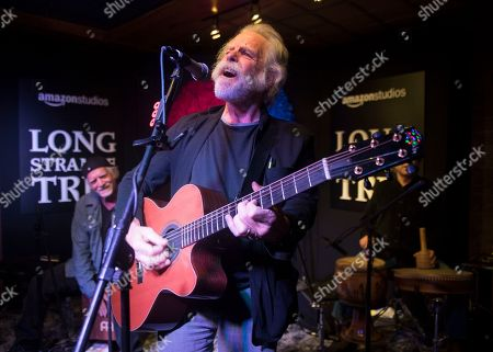 """From left, Bill Kreutzmann, Bob Weir and Mickey Hart perform at the party for the film """"Long Strange Trip"""" during the 2017 Sundance Film Festival in Park City, Utah. Thinking back on 1967, Weir of the Grateful Dead recalls a creative explosion that sprouted from fissures in American society. That summer marked a pivot point in rock-and-roll history, he says, but it was about much more than the music. â?œThere was a spirit in the air,â?? said Weir. â?œWe figured that if enough of us got together and put our hearts and minds to it, we could make anything happen.â"""