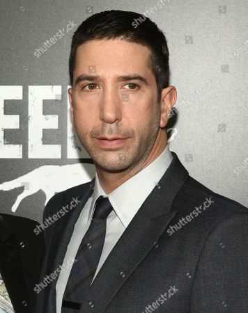 """David Schwimmer attends the premiere screening of AMC's new series, """"Feed The Beast"""", in New York. Schwimmer, Cynthia Nixon, Bobby Cannavale, Grace Gummer and Noah Emmerich, among others, appear in a series of short films launched this week as part of a campaign called That's Harassment. Each offers a disturbing glimpse into how abusers assume control, whether they're fellow bartenders, co-workers or bosses, and how such abuse can play out in plain view of bystanders"""