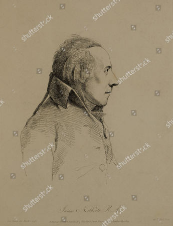 James Northcote, R. A., Etching by William Daniel from Original 1793 Portrait by George Dance, 1809