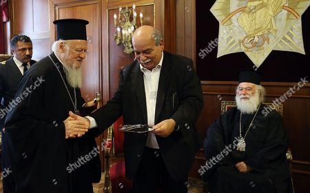 Patriarch Bartholomew and Nikos Voutsis Patriarch Theodore II