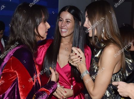 Roopal Patel, Gilda Ambrosio and guest attends the Footwear News Achievement Awards at the IAC on November 28, 2017 in New York