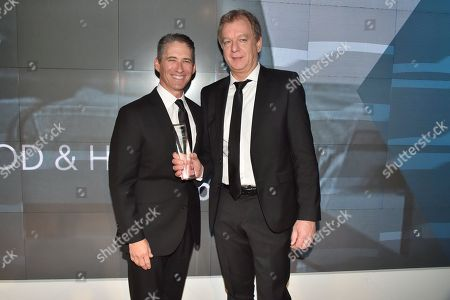 Stock Image of David Kahan and Markus Bensberg attend the Footwear News Achievement Awards at the IAC on November 28, 2017 in New York