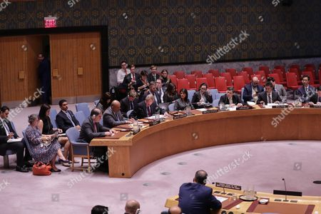 British UN Ambassador Matthew Rycroft and Nikki Haley, United States Permanent Representative to the UN