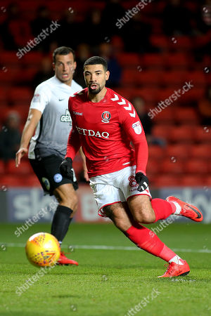Leon Best of Charlton Athletic in action during Charlton Athletic vs Peterborough United, Sky Bet EFL League 1 Football at The Valley on 28th November 2017