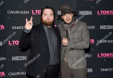 "Paul Walter Hauser, Ricky Russert. Actors Paul Walter Hauser, left, and Ricky Russert attend the premiere of ""I, Tonya"" at Village East Cinema, in New York"