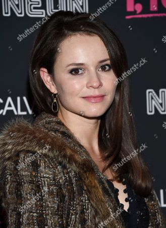 "Figure skater Sasha Cohen attends the premiere of ""I, Tonya"" at Village East Cinema, in New York"