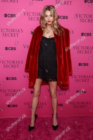 Roosmarijn de Kok attends the Victoria's Secret fashion show viewing party at Spring Studios, in New York