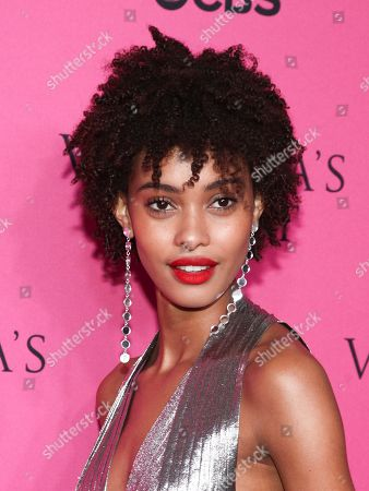 Samile Bermannelli attends the Victoria's Secret fashion show viewing party at Spring Studios, in New York