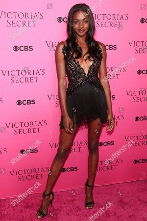 Zuri Tibby attends the Victoria's Secret fashion show viewing party at Spring Studios, in New York