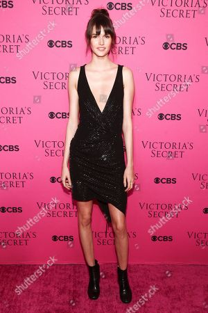 Vanessa Moody attends the Victoria's Secret fashion show viewing party at Spring Studios, in New York