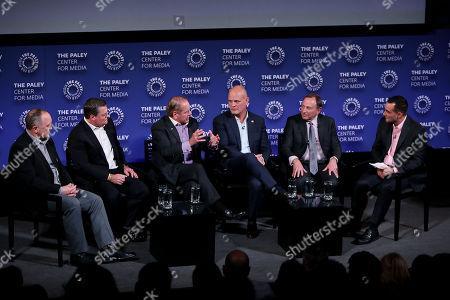 Bryan Trottier, Pat LaFontaine, Rod Gilbert, Ken Daneyko, Gary Bettman, Tony Luftman