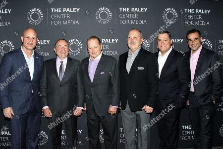 Ken Daneyko, Gary Bettman, Rod Gilbert, Bryan Trottier, Pat LaFontaine, Tony Luftman