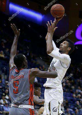 Marcus Lee, Mahamadou Kaba-Camara. California's Marcus Lee, right, shoots against Cal State Northridge center Mahamadou Kaba-Camara (5) during the first half of an NCAA college basketball game, in Berkeley, Calif
