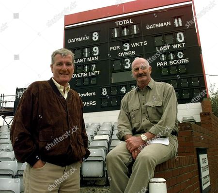 Picture Shows Bob Willis And Dennis Lillee Visit Headingley As They Discuss The 1981 Test In Which England Beat Australia By 18 Runs
