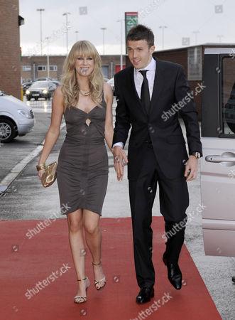 Michael Carrick and wife Lisa Roughead.