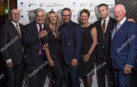 Stock Image of L to R: Ricky McMenemy, Billy Differ, Kelly Cooper Barr, Jet Black, Rhona Baillie, Gino Da Prato and Charles Berry