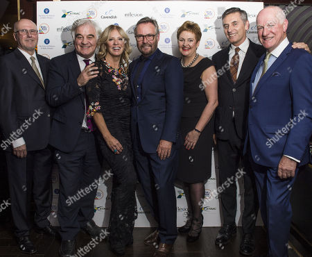Stock Picture of L to R: Ricky McMenemy, Billy Differ, Kelly Cooper Barr, Jet Black, Rhona Baillie, Gino Da Prato and Charles Berry
