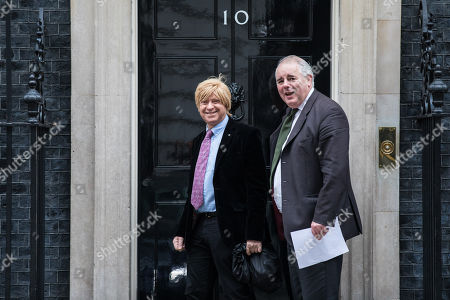 Michael Fabricant MP (L) on Downing Street for an undisclosed meeting said to be about 'ideas and strategy'.