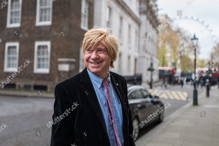 Michael Fabricant MP on Downing Street after an undisclosed meeting said to be about 'ideas and strategy'.