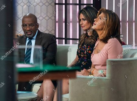 """Co-anchors Al Roker, from left, Savannah Guthrie and Hoda Kotb sit on the set of the of the """"Today"""" show, in New York, after NBC News fired host Matt Lauer. NBC News announced Wednesday, Nov. 29, 2017, that Lauer was fired for """"inappropriate sexual behavior"""
