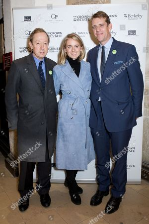 Geordie Greig, Cressida Bonas and Ben Elliot