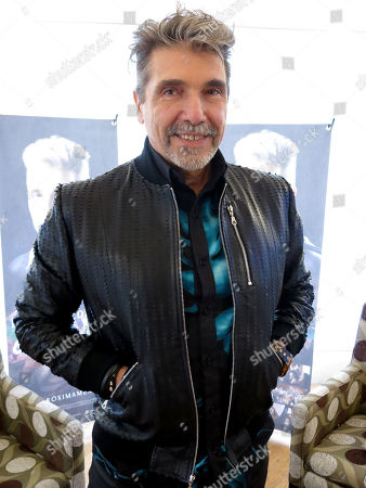 """The Argentine-born singer Diego Verdaguer poses for a photo during an interview in Mexico City. Verdaguer includes banda, electronic music, and pop in his latest album """"Organico"""