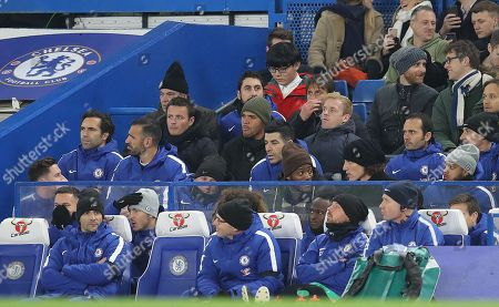 Chelsea manager Antonio Conte is sent to the stands by referee Neil Swarbrick