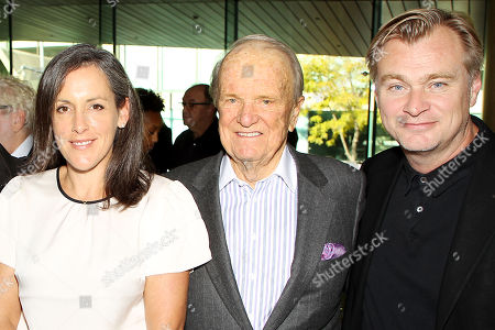 Stock Image of Emma Thomas (Producer), George Stevens Jr. (Host), Christopher Nolan (Director,Writer,Producer)