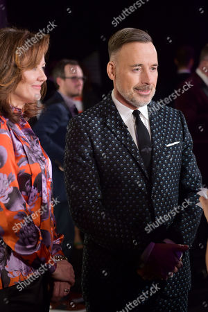 Stock Picture of Anne Aslett and David Furnish