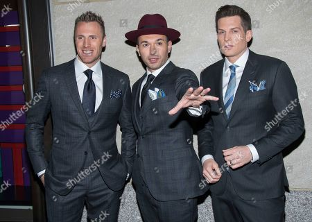 Fraser Walters, Victor Micallef, Clifton Murray. Fraser Walters, left, Victor Micallef and Clifton Murray from The Tenors attend the 85th annual Rockefeller Center Christmas Tree lighting ceremony, in New York