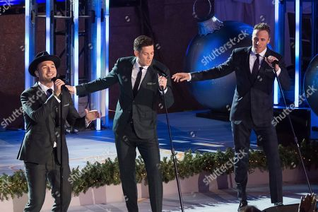 Clifton Murray, Victor Micallef, Fraser Walters. Victor Micallef, left, Clifton Murray and Fraser Walters from The Tenors perform during the 85th annual Rockefeller Center Christmas Tree lighting ceremony, in New York
