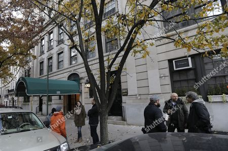 Members of the media are staked-out in front of theresidence of former Today show host Matt Lauer in New York, New York, USA,  29 November 2017.
