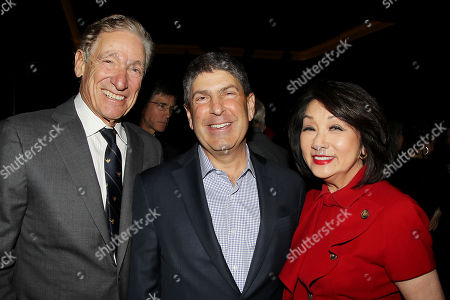 Maury Povich, Jeff Shell (Chairman, Universal Filmed Entertainment Group) and Connie Chung