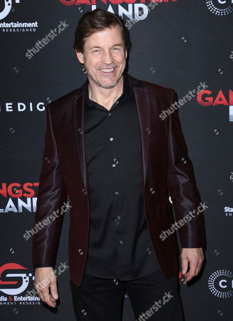 """Stock Picture of Michael Pare arrives at the Los Angeles premiere of """"Gangster Land"""" at the Egyptian Theater on"""