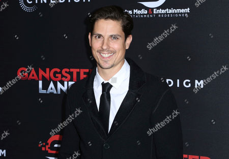 """Sean Faris arrives at the Los Angeles premiere of """"Gangster Land"""" at the Egyptian Theater on"""