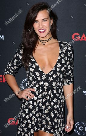 """Natalie Burn arrives at the Los Angeles premiere of """"Gangster Land"""" at the Egyptian Theater on"""