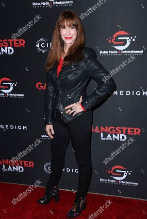 """Caroline Williams arrives at the Los Angeles premiere of """"Gangster Land"""" at the Egyptian Theater on"""