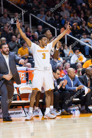 James Daniel III #3 of the Tennessee Volunteers celebrates a 3 point shot during the NCAA basketball game between the University of Tennessee Volunteers and the Mercer University Bears at Thompson Boling Arena in Knoxville TN Tim Gangloff/CSM