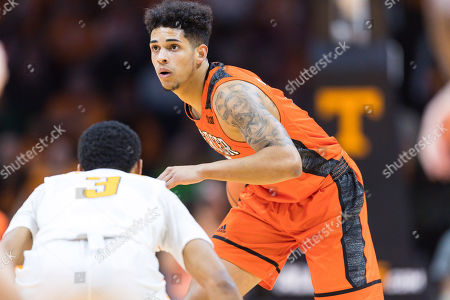 Marcus Cohen #3 of the Mercer Bears brings the ball up court against James Daniel III #3 of the Tennessee Volunteers during the NCAA basketball game between the University of Tennessee Volunteers and the Mercer University Bears at Thompson Boling Arena in Knoxville TN Tim Gangloff/CSM