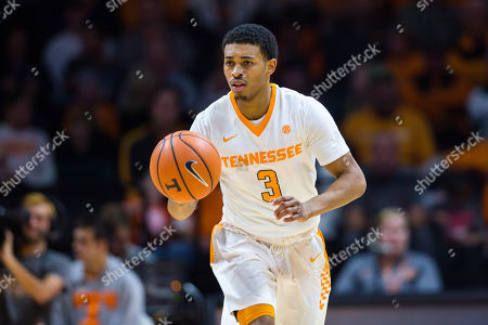 James Daniel III #3 of the Tennessee Volunteers brings the ball up court during the NCAA basketball game between the University of Tennessee Volunteers and the Mercer University Bears at Thompson Boling Arena in Knoxville TN Tim Gangloff/CSM