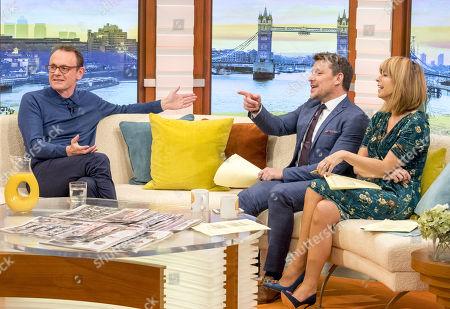 Sean Lock with Kate Garraway and Ben Shephard